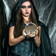 Portrait of a young witch — Stock Photo