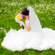 Beautiful bride posing in her wedding day - Foto Stock