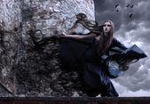 Genç cadı portresi. — Stok fotoğraf