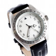 Watch with black leather — Stock Photo