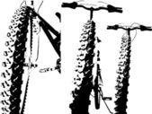Grunge bike silhouette — Stock Vector