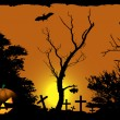 Halloween vector background — Vector de stock