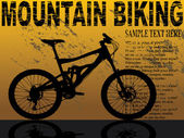 Flayer for mountain bikers — Stock Vector