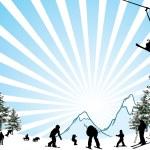 Ski resort — Stock Vector