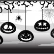 Illustration on a theme of Halloween — Stock Vector