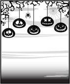 Gloomy background on a theme of Halloween — Stock Vector