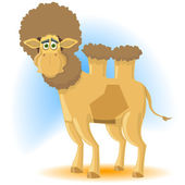 The surprised camel — Stock Vector