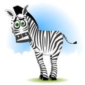 Ridiculous Zebra — Stock Vector