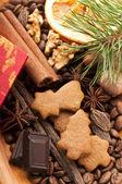 Weihnachten Backen - Pfefferkuchen — Stockfoto