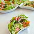 Salad With Salmon And Avocado - Stok fotoğraf