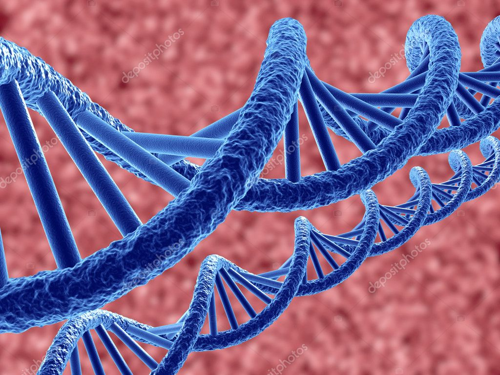 3d render of dna on blue background — Stock Photo #6848489