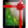 Tablet PC gift — Stock Photo