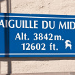 Aiguille du Midi signboard — Stock Photo #7278591