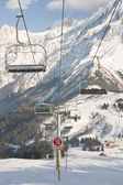Under Chairlift — Stock Photo