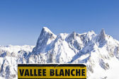 Vallee Blanche signboard — Stock Photo