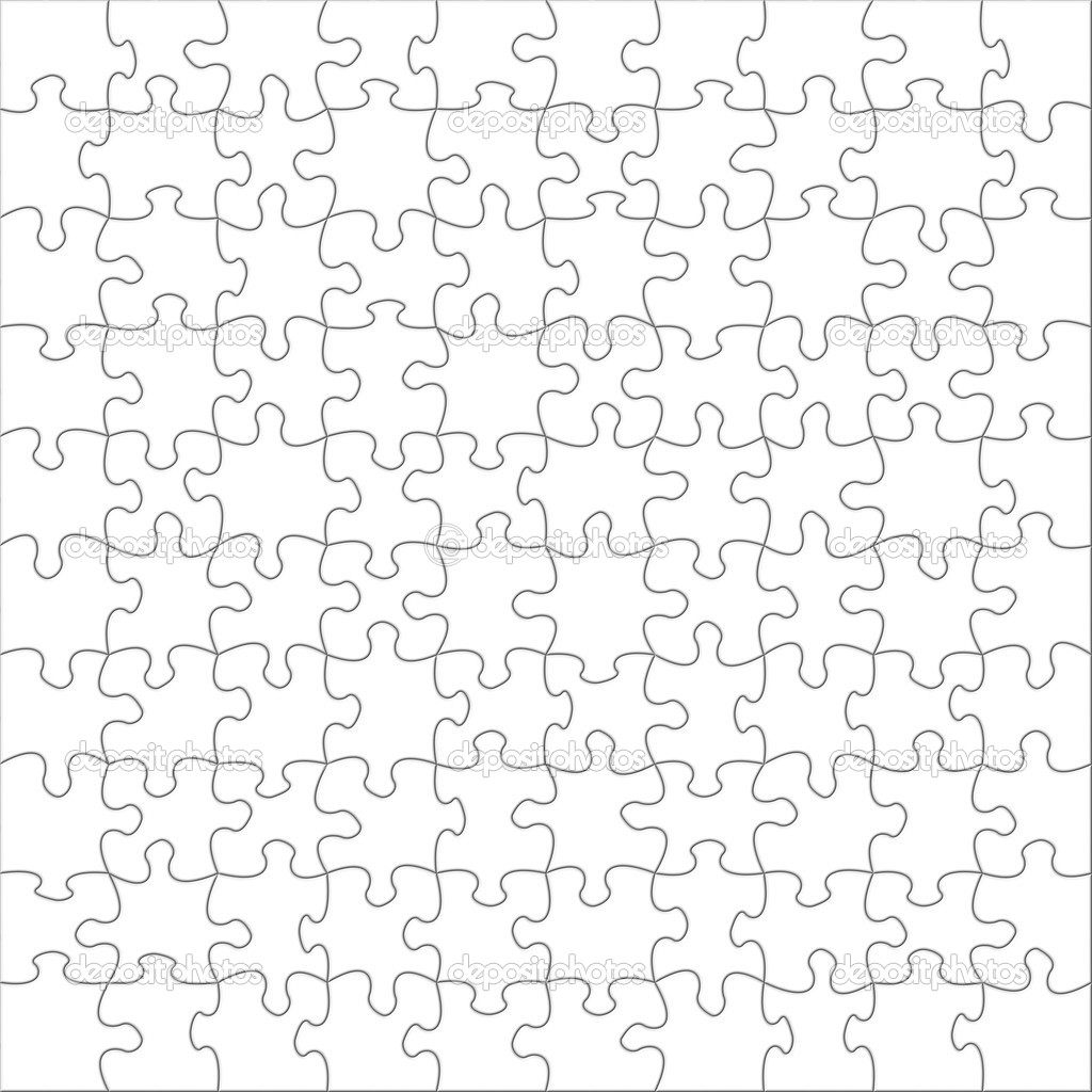 Blank puzzles stock photo 169 trubach 6828967