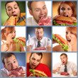 Stockfoto: Hunger baner