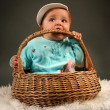 Baby in basket — Stock Photo #7114095