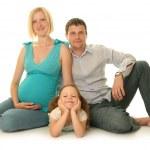 Happy family on white background — Stock Photo #7235263