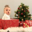 Gifts and baby — Stock Photo