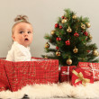 Gifts and baby — Stock Photo #7354265