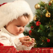 Stock Photo: Gifts and baby