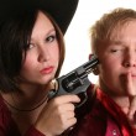 Young cowboys — Stock Photo