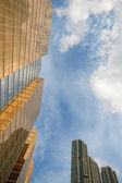 Skyscrapers of the modern city — Stock Photo