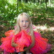 Stock Photo: Sad little girl in fairy costume