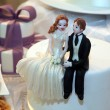 Stock Photo: Bride and groom figurines