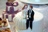Bride and groom figurines — Stock Photo