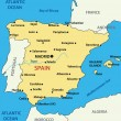 Map of Spain - vector illustration — Vecteur #6879539