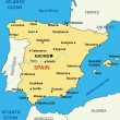 ストックベクタ: Map of Spain - vector illustration