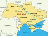 Carte de l'ukraine - illustration vectorielle — Vecteur