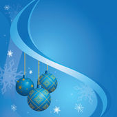Vector blue card for christmas holidays - eps 10 — Stock Vector