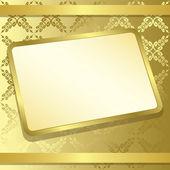 Vector rectangle frame on gold background - eps 10 — Stock Vector