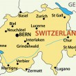 Map of Switzerland - vector illustration — Vettoriali Stock