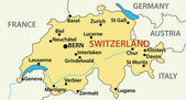 Map of Switzerland - vector illustration — Stock Vector