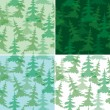 Royalty-Free Stock Vector Image: Green seamless patterns with fir trees - vector