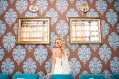 Fantastic beauty bride — Stockfoto