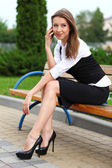 Businesswoman with cellphone — Foto de Stock