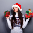 Christmass girl - Stock Photo