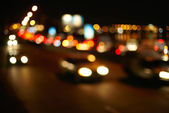Traffic lights of the city. Defocused — Stock Photo