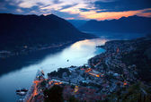 Night view of Kotor, Montenegro — Stock Photo