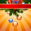 Christmas Card Template - Imagens vectoriais em stock