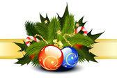Christmas Card Template — Stok Vektör
