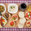 Mediterranean appetizer food — Stock Photo