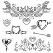 Love Tattoo — Vector de stock #7653928