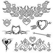 Love Tattoo — Stock Vector