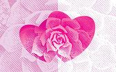 Sevgi çiçek — Stok Vektör
